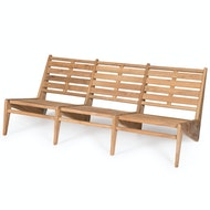 Kangaroo Chair Bench 3 - Teak Outdoor