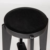 Bar Stool Wood DT.W.19. - Charcoal Black