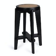 Bar Stool Cane DT.W.19. - Charcoal Black