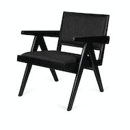 Easy Lounge Chair Upholstered - Noir Charbon