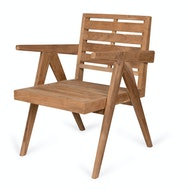 Dining Easy Lounge  Chair - Teak Outdoor