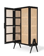 Storage Cabinet - Charcoal Black