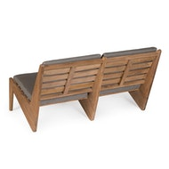 Kangaroo Chair Bench 2 - Teak Outdoor with Cushion