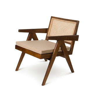 Kussen lichtbruin loungestoel bruin