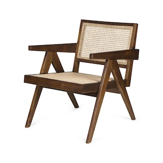 Loungechair darkened teak hoek web