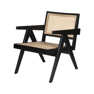 Loungechair web zwart hoek