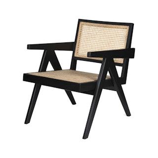 Loungechair web zwart hoek