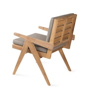 Dining Easy Lounge  Chair - Teak Outdoor with Cushion