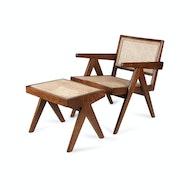 Footstool Easy Lounge - Dunkelbraun